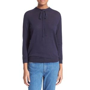 NWOT A.P.C 'Lavaliere' Silk Blend Tie Neck Sweater